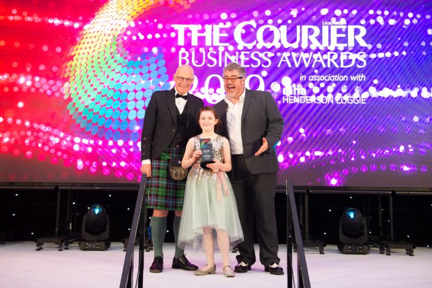 Rising Star Award, Amelia Milton, presented by John Swinney