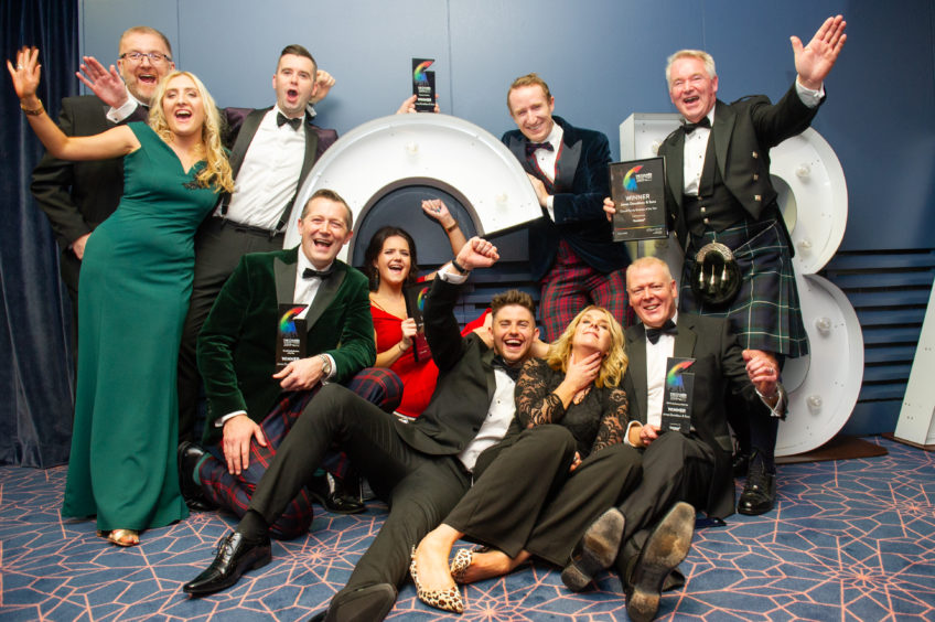 Family Business of the Year, James Donaldson & Sons celebrate their successful night.