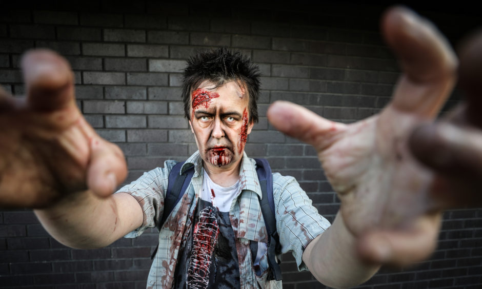 Tony O'Hare on the Dundee Zombie Walk for Women's Aid.