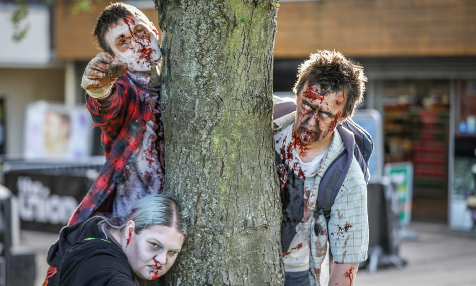 Zombies on the Dundee Zombie Walk for Women's Aid.