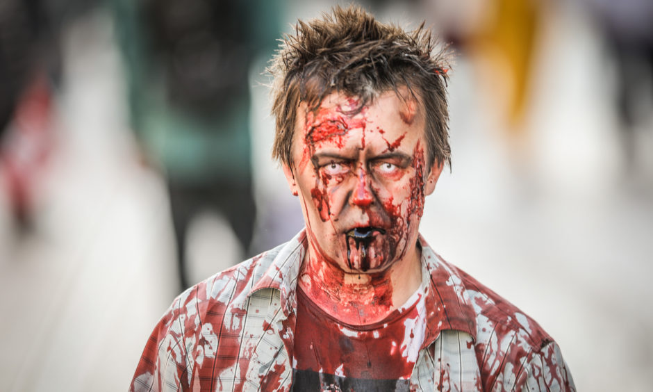 Tony O'Hare on the Dundee Zombie Walk. All pictures by Kris Miller / DCT Media