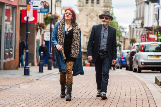 Rezillos singer Fay Fife, and guitarist Lord Allan Mcdowall, who were playing at the festival with their country music band, Countess of Fife, helped to launch this year's festival.