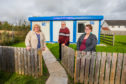 Picture shows (l-r) Katherine Hathaway, Councillor Henry Anderson and Cate Menzies (key holder). Picture credit Steve MacDougall.