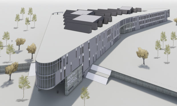 Architects' impression shows how Perth High School replacement could look