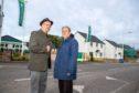 Councillors Jonny Tepp and Tim Brett at the Wormit development.