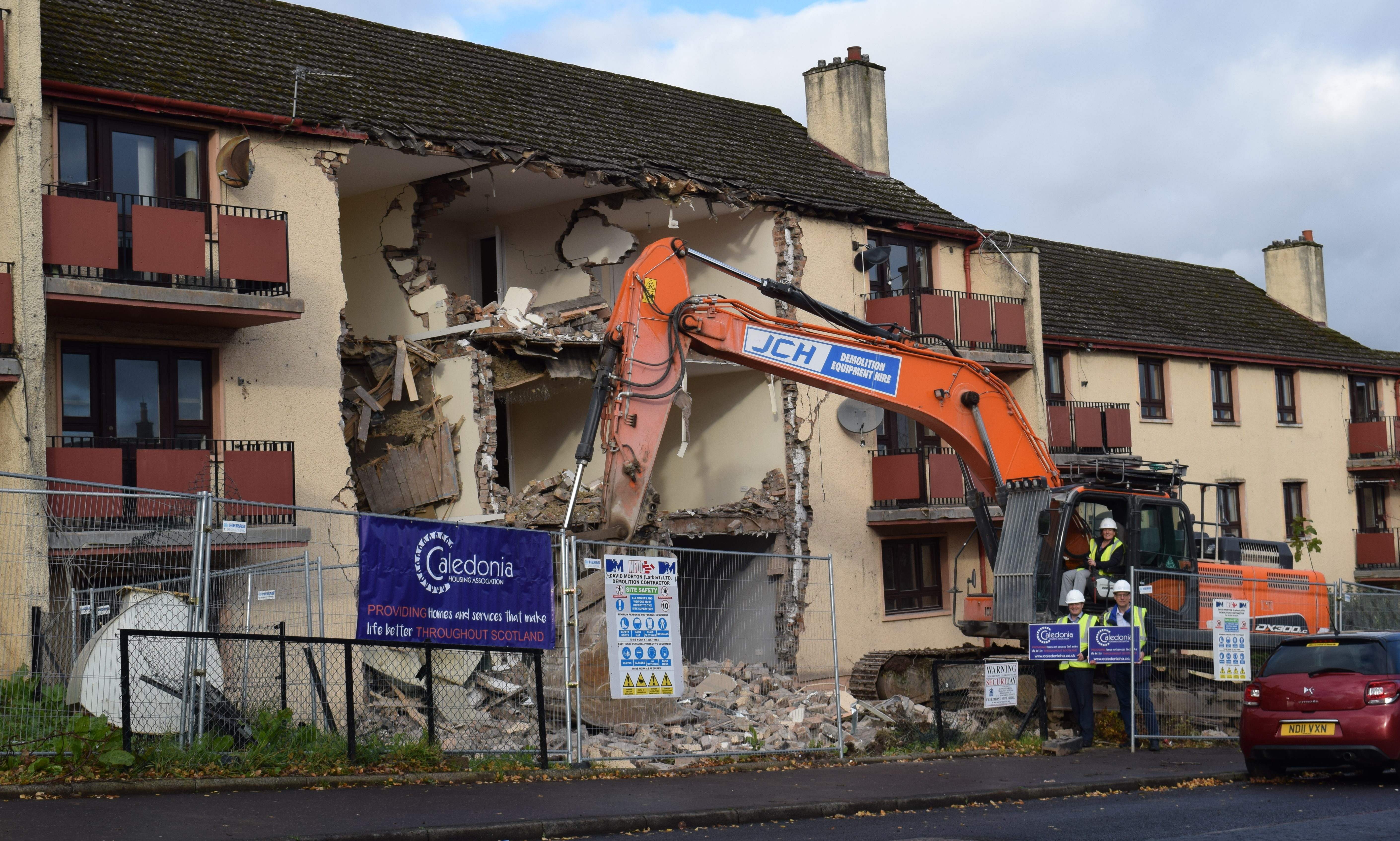 Demolition work gets under way at Newhouse Road, Perth