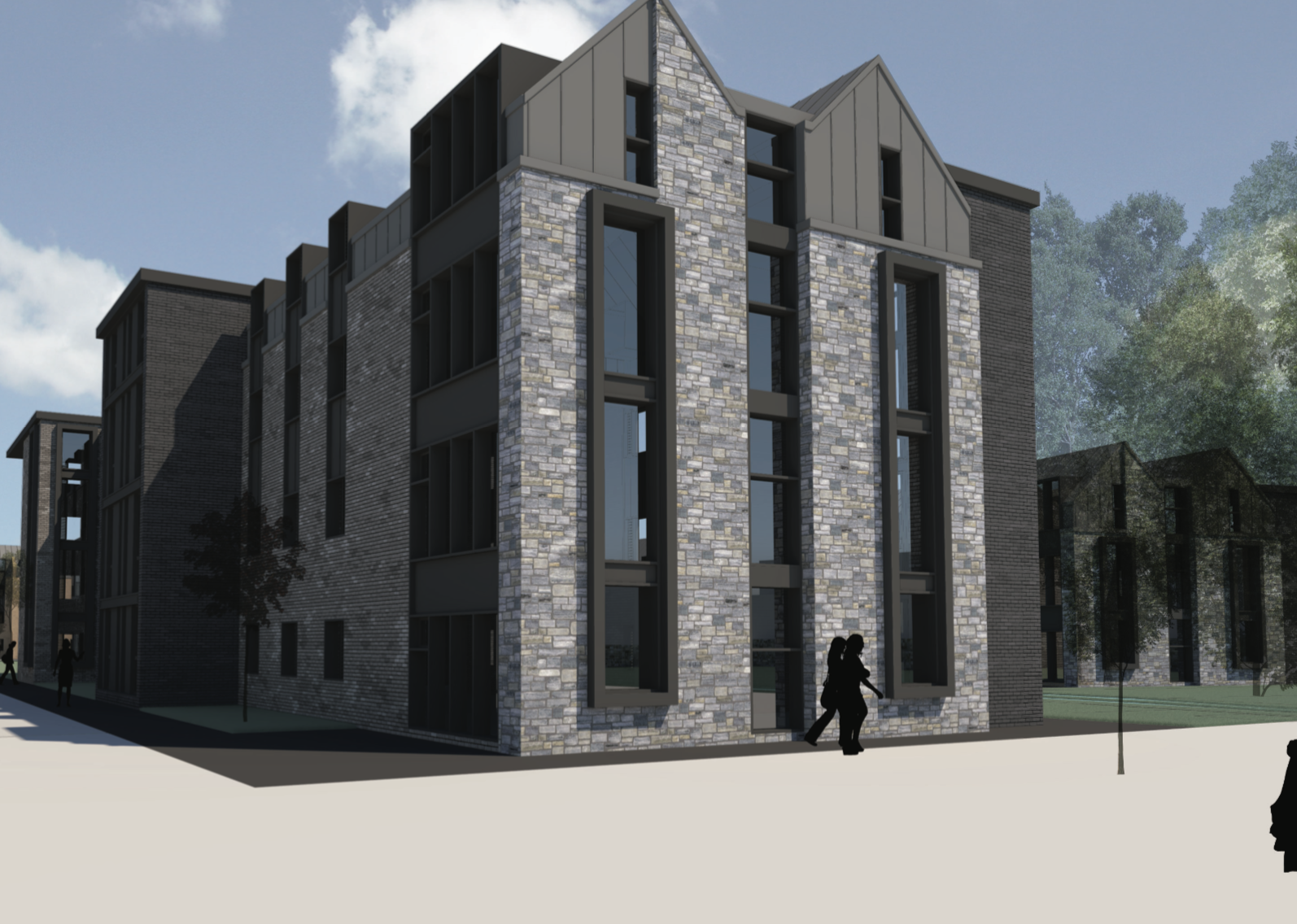 Proposed new student accommodation at East Sands, St Andrews.