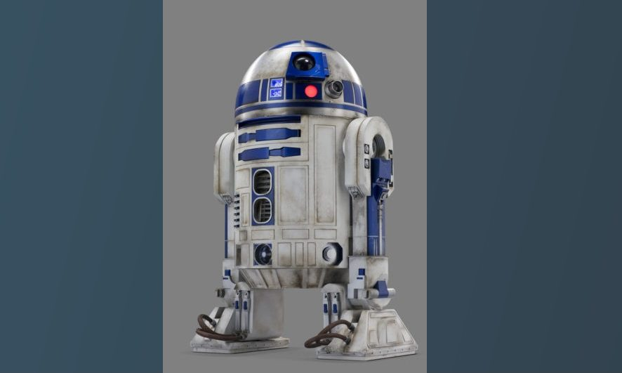 R2-D2 film prop from Star Wars.