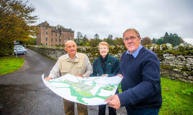 Kenny Simpson and May Smith from Methven and District Community Council and Councillor Ian James are calling on residents to make their views known on Almond Valley as soon as possible.