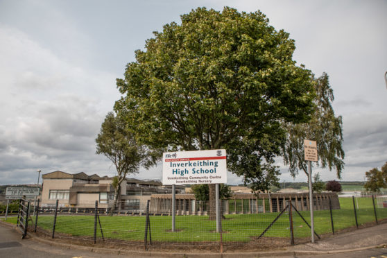 The existing Inverkeithing High School.