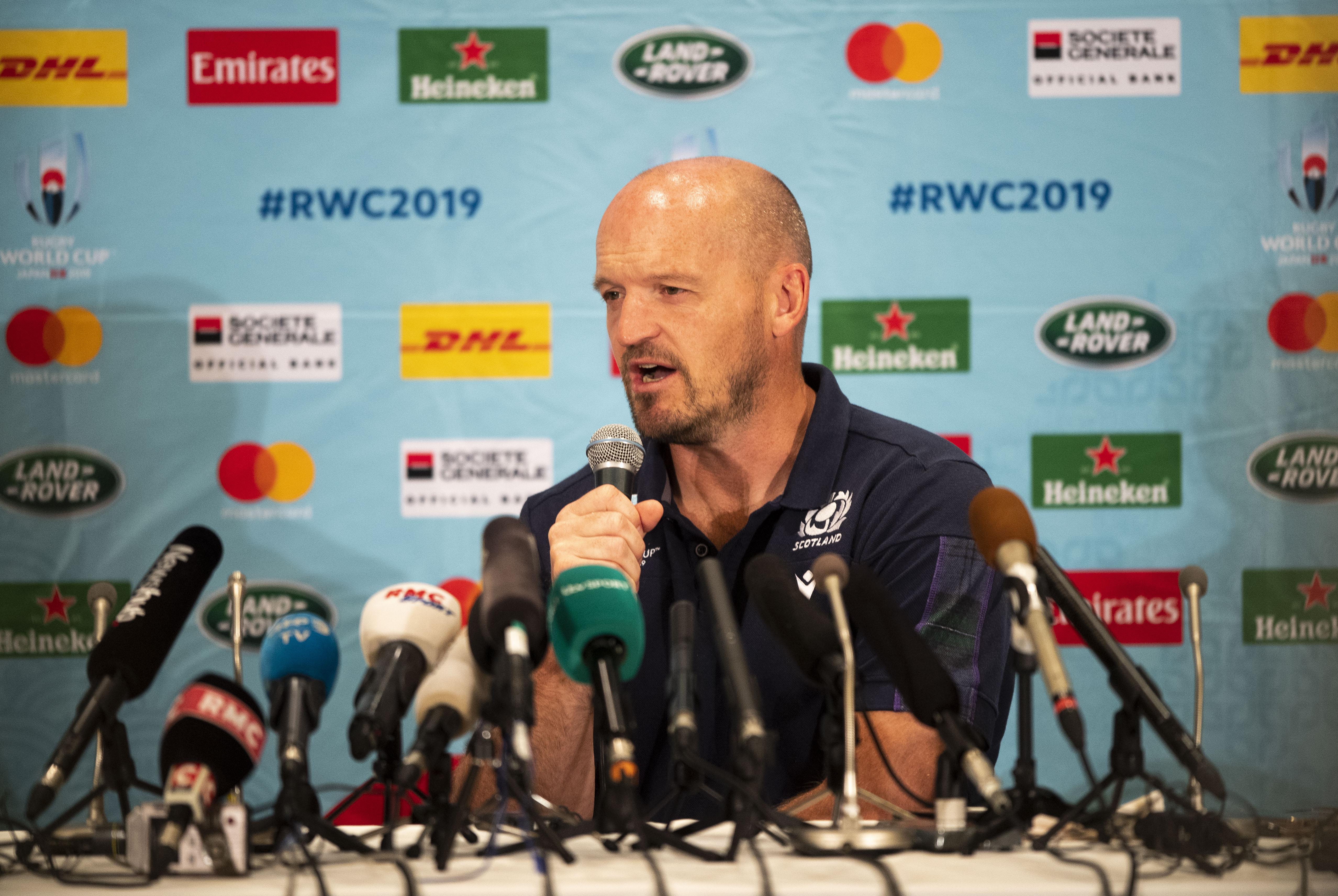 Scotland Head Coach Gregor Townsend in Yokohama yesterday.