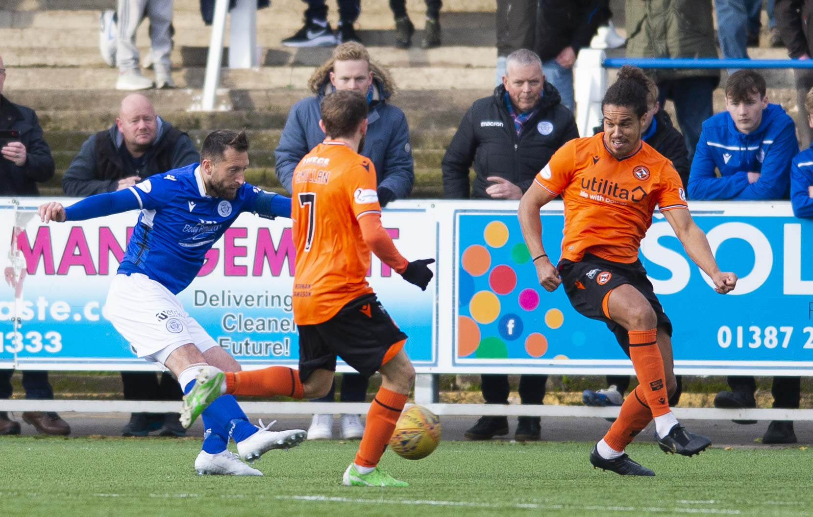 Stephen Dobbie scores Queens' third.