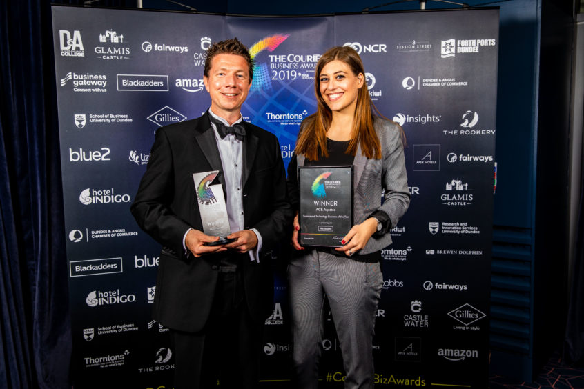 Science & Technology Business of the Year Winner at the Courier Business Awards in 2019