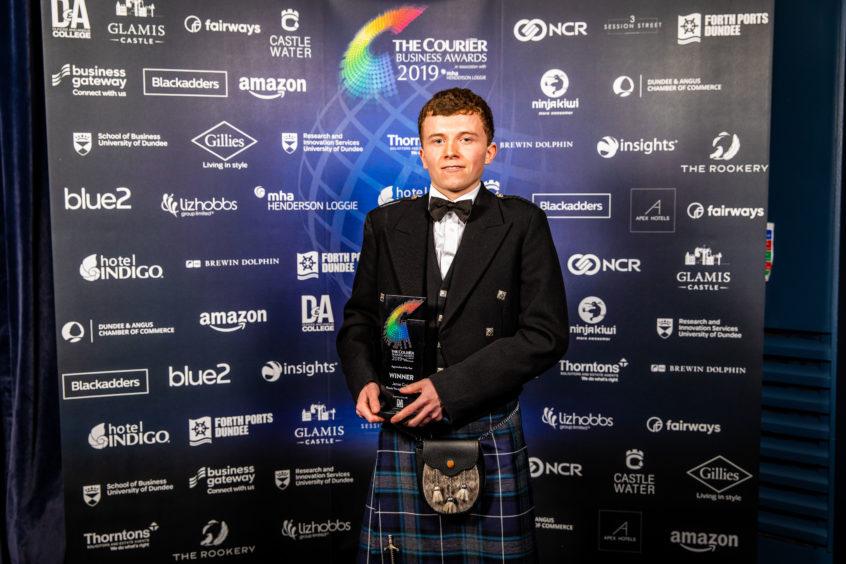 Apprentice of the Year Winner, Jamie Craig, Rossie Young People's Trust