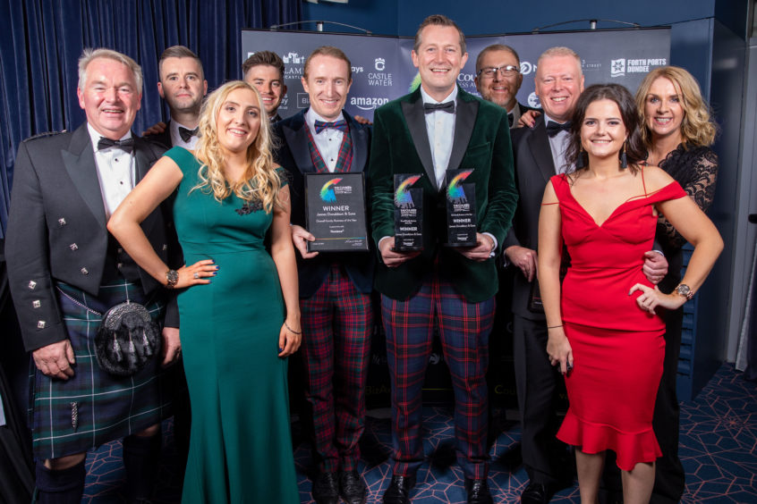 Family Business of the Year, Winner for Fife, and also Overall Winner, James Donaldson & Sons :–