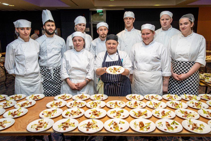 Chefs from Courier Business Awards 2019 (Back) James Hannan, Karina, Vasilteva, Chris Newton, Robert Kerr, Andrew Christian (Front) Paige Fletcher, Jasmine Stewart, Rosie Brooks, Kelly Jolly, Leah Gilbank .