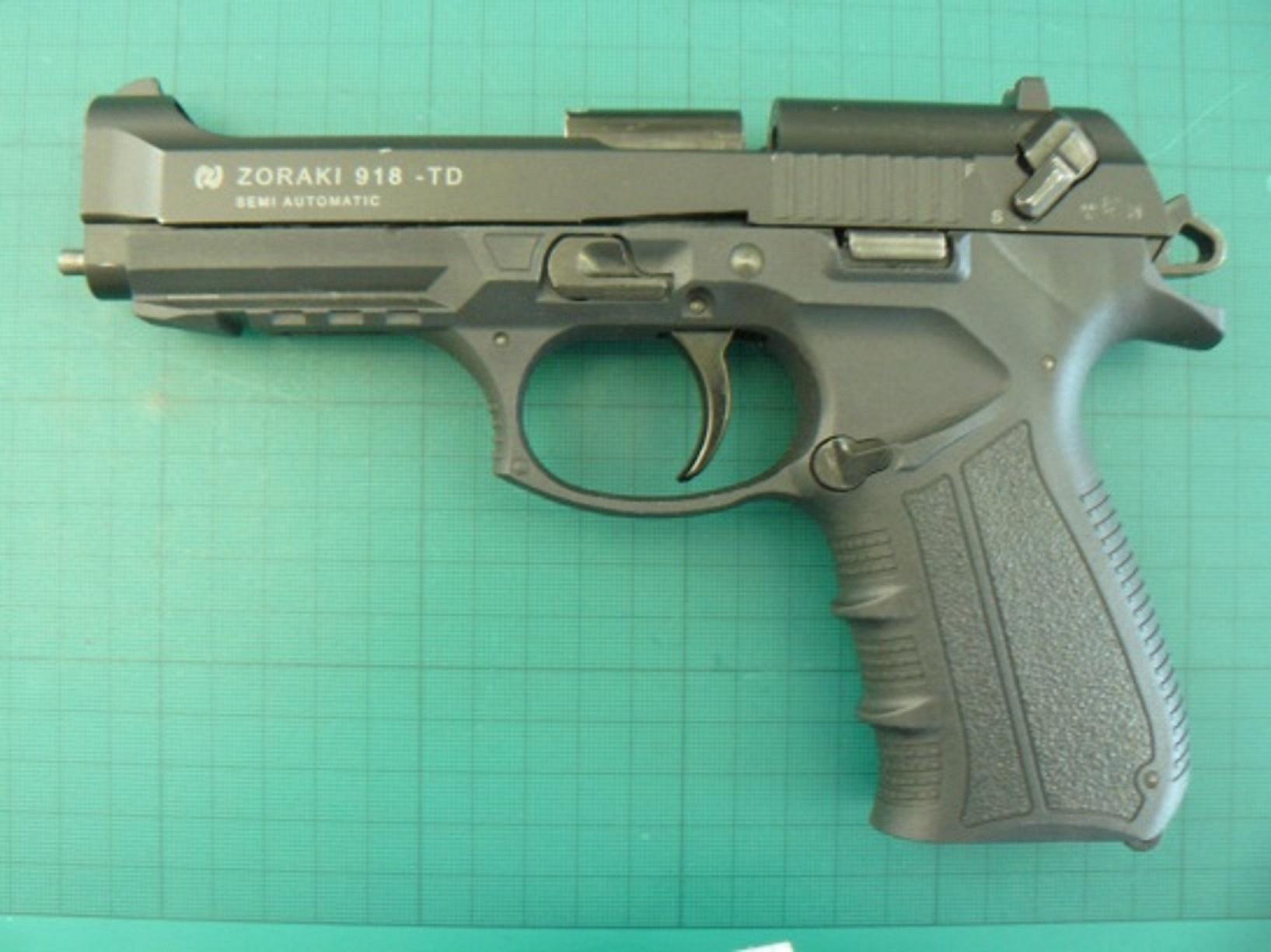 The handgun that was destined for John Stewart's address.