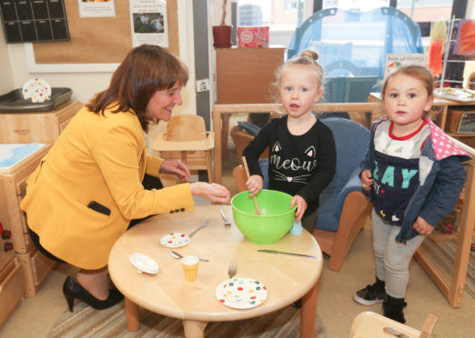 The Treetop Family Nurture Centre in Inverkeithing has been named an early learning and childcare setting of innovation by the Scottish Government, and children's minister Maree Todd paid a visit recently.