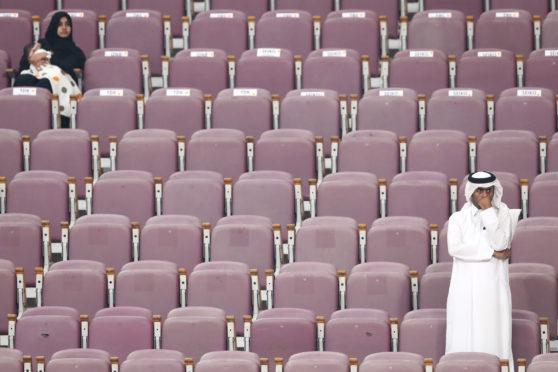 More empty seats than spectators in Doha.