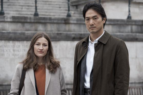 Kelly Macdonald and Takehiro Hira in Giri/Haji (copyright BBC).
