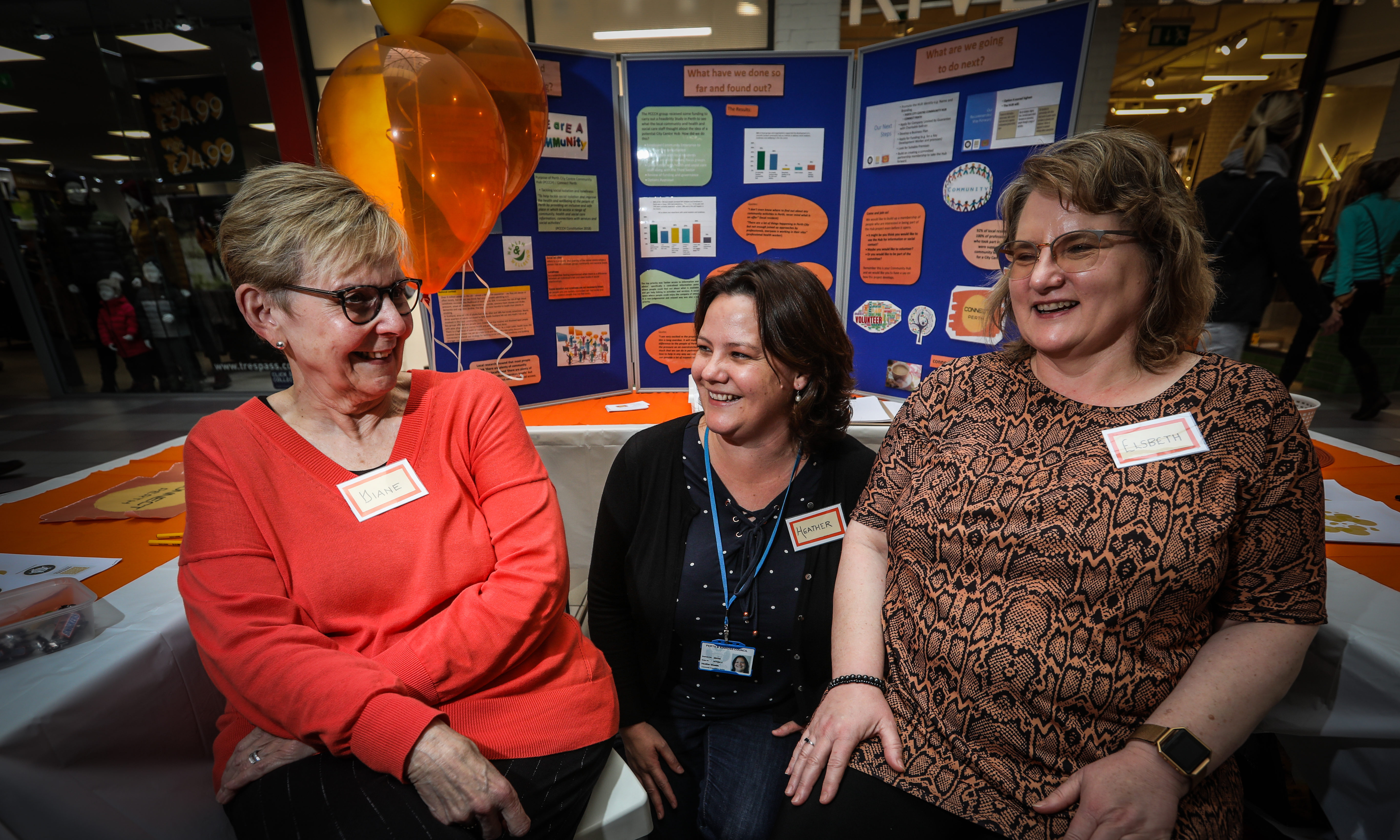 Connect Perth committee members Diane Walker and Elsbeth Thomson, right,  and Heather Shields, middle, held an awareness day after the figures were revealed.