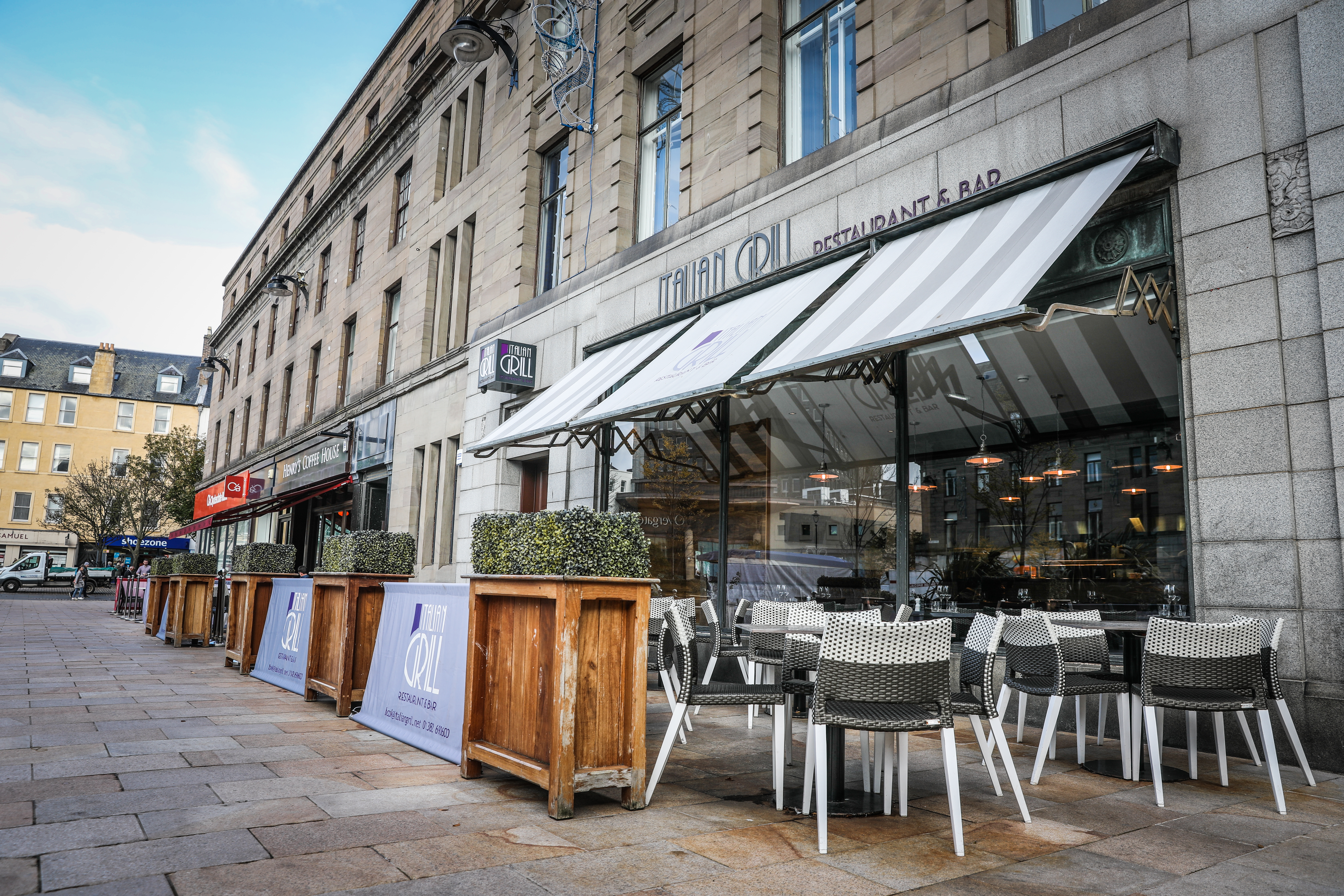 Italian Grill in City Square, Dundee.