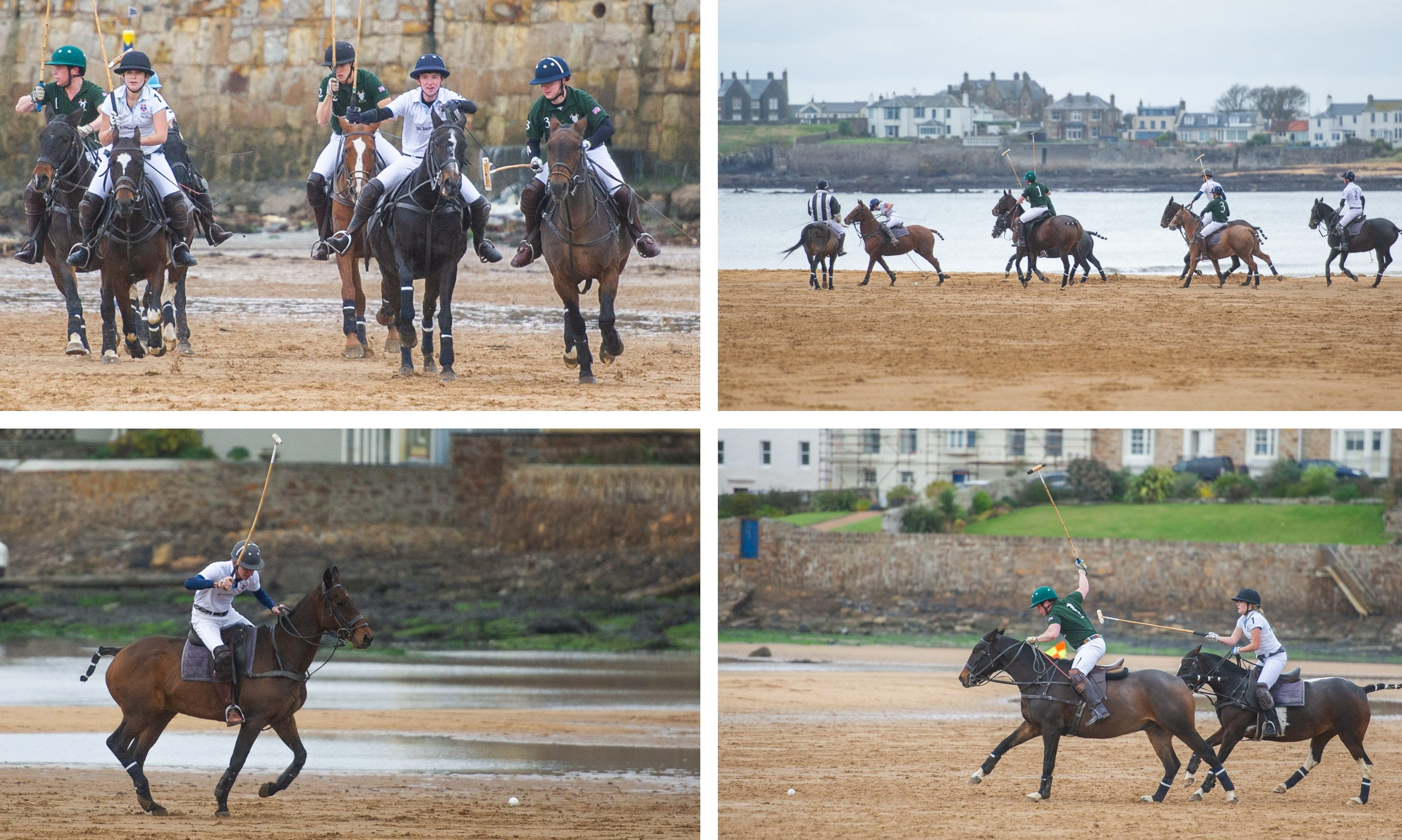 Polo at Elie Beach.