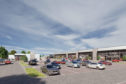 An artist's impression of the retail park planned for Arbroath.