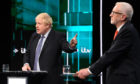 Boris Johnson and Jeremy Corbyn answer questions during the ITV Leaders Debate.