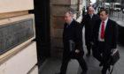 Alex Salmond arrives at the High Court in Edinburgh.