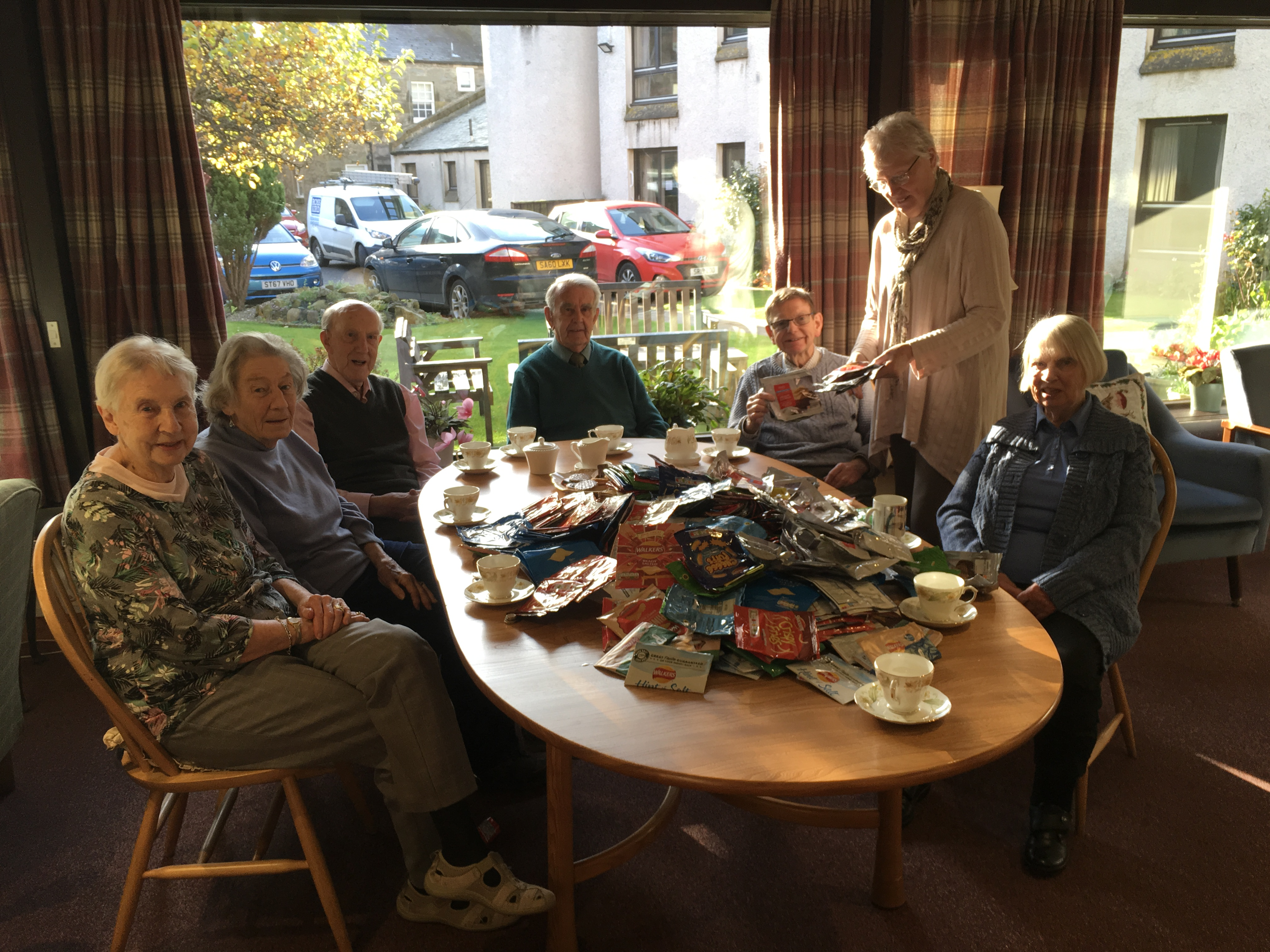 Residents of Argyle Court with their haul.