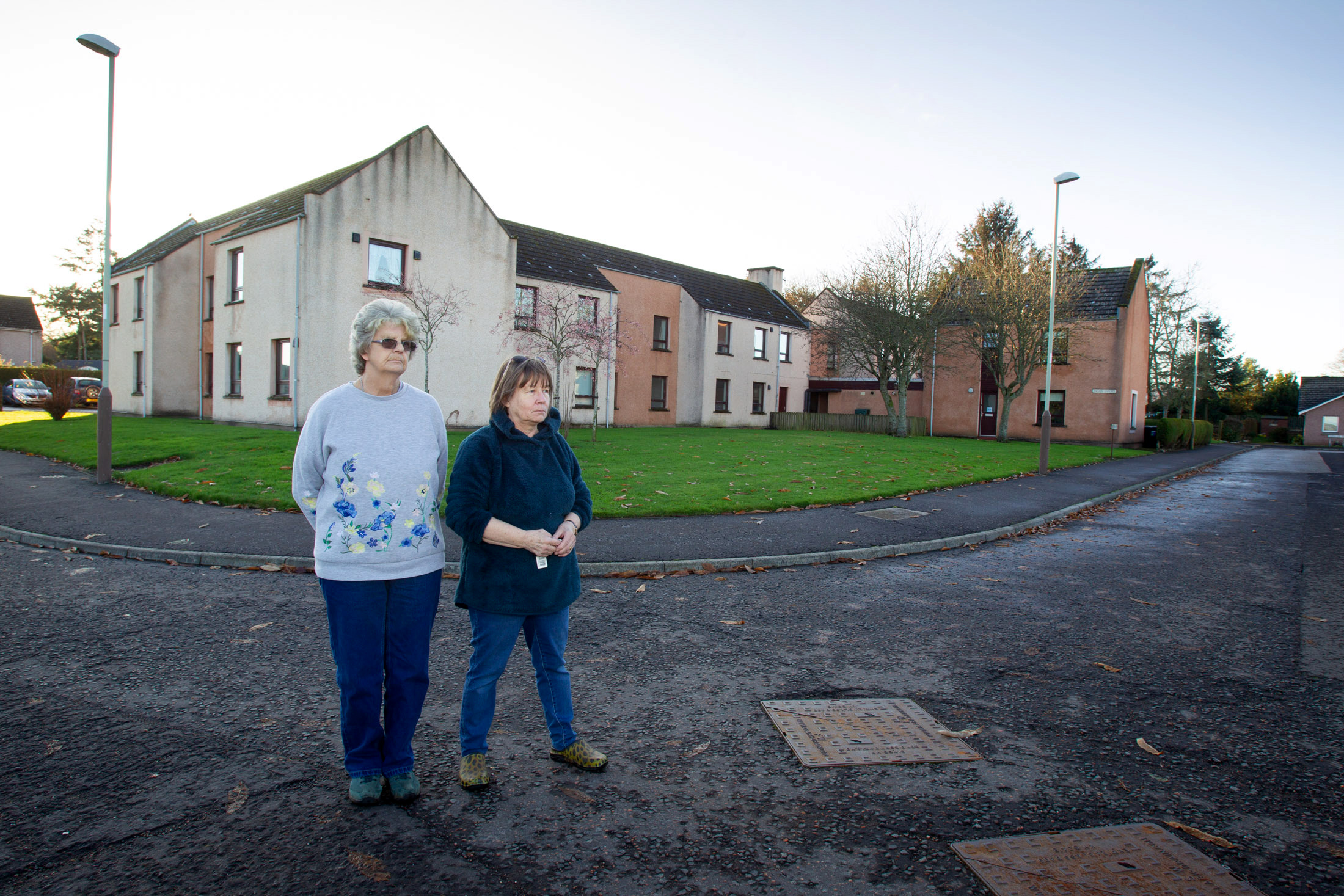 "Residents Beth Smith (left) and Renata Ralph remain at Inglis Court.   ....Pic Paul Reid  Remaining residents of Inglis Court in Edzell say they have been left in the dark over the plans for the programme to replace the sheltered housing scheme with 20 new homes. In October 2018 the tenants were promised a ""bespoke service"" to find them alternative homes in advance of the housing being demolished, but are now facing a second Christmas without having been offered suitable accommodation. Council say their plans remain on track with demolition due to start next year."