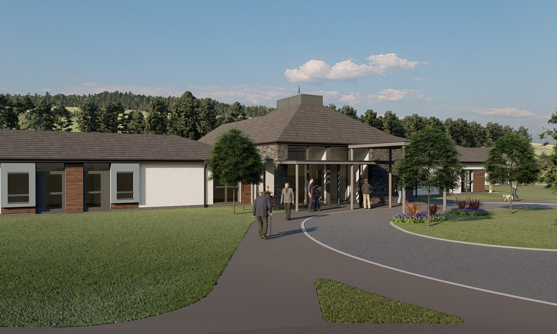An artists' impression of how the dementia care centre near Alyth could look