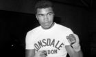 Boxer Muhammad Ali during a training session.