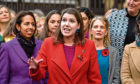 Liberal Democrat Leader Jo Swinson gives a statement saying she must be allowed to take part in TV election debates and will pursue legal avenues if her party are not included on November 4, 2019 in London, England.