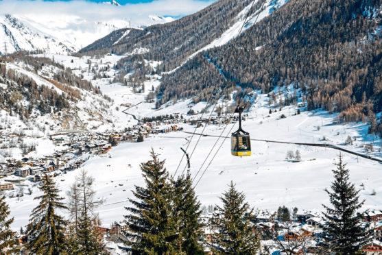 La Thuile, in the Aosta Valley of the Italian Alps.