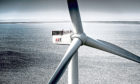 A wind turbine produced by MHI Vestas who are a supplier for SSE's Seagreen project.