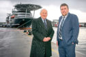 Montrose Port Authority chairman John Carmichael and chief executive Captain Tom Hutchison. Picture: Rory Raitt.