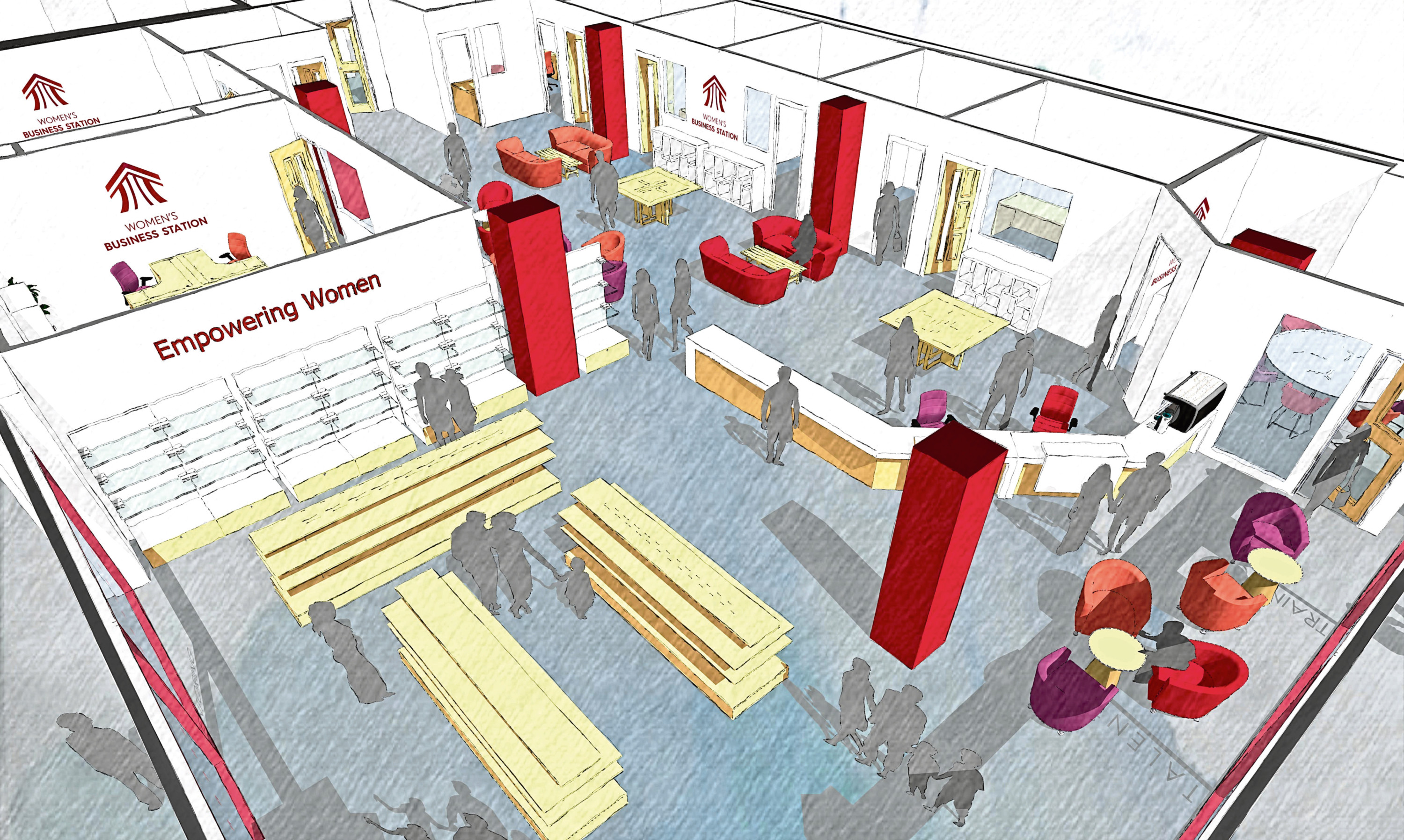 Women's Business Station plans for Wellgate Centre. Picture: Alastair Fitchet.