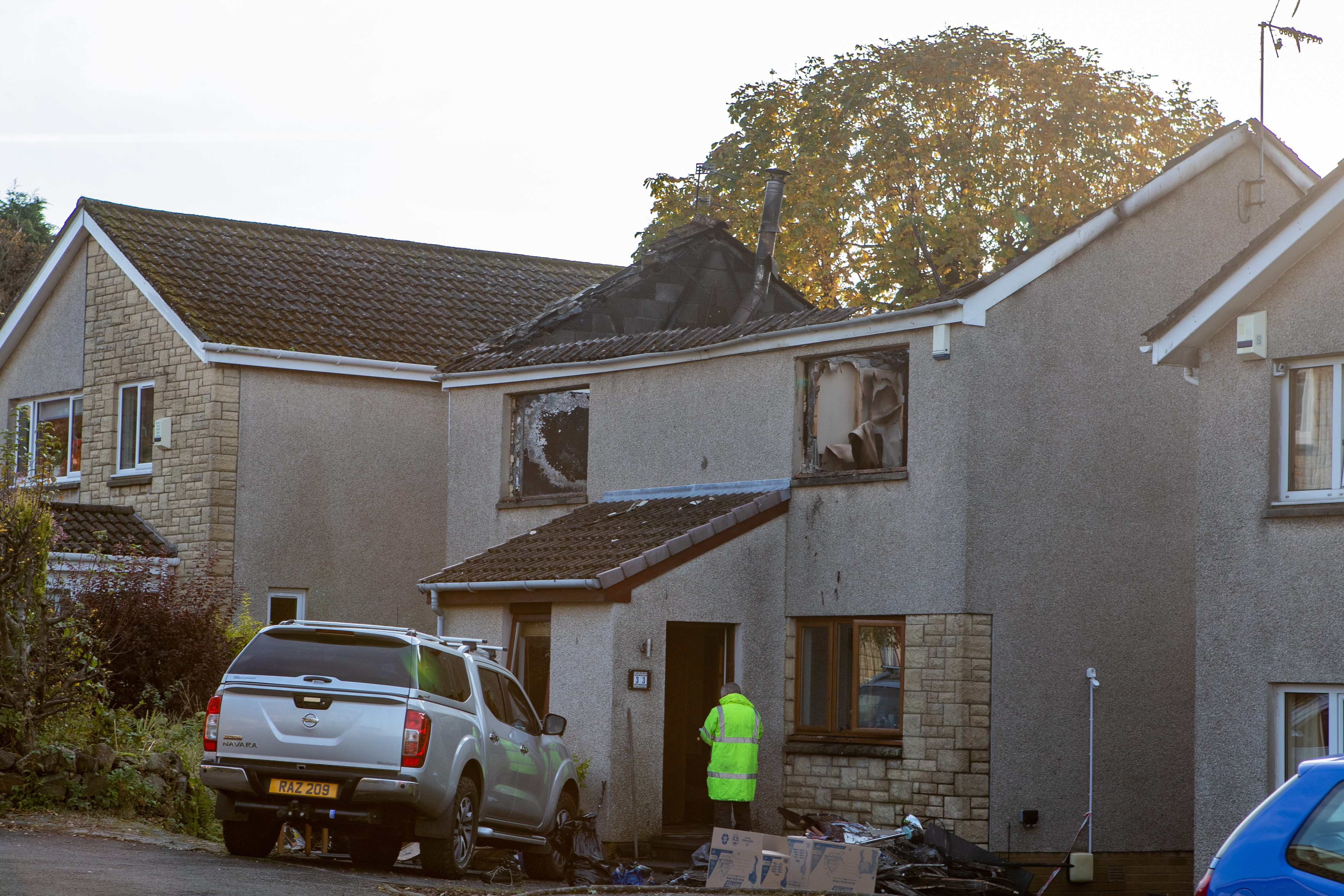 The fire in St Fillans Crescent, Aberdour left a house gutted.