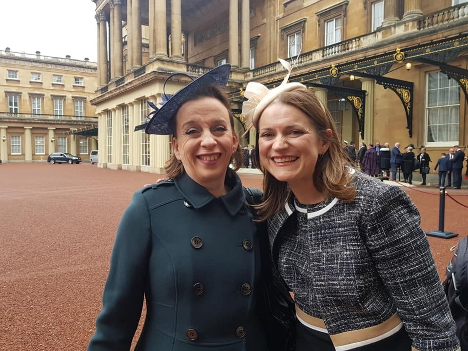 Professor Ali Watson and Catherine Stihler at the Palace.