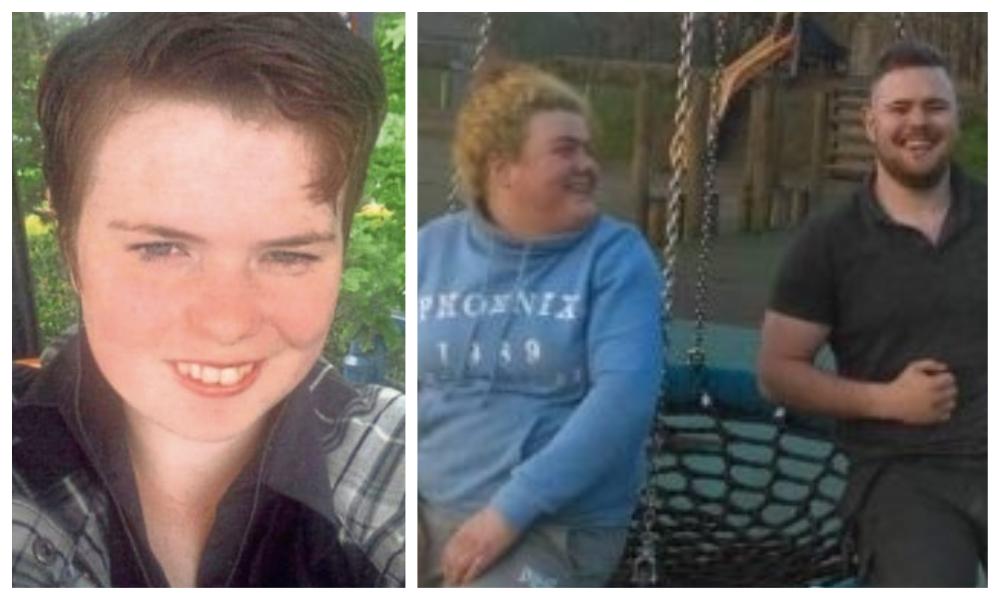 Left: Annalise Johnstone. Right: Shabbana Johnstone with brother Jordan.