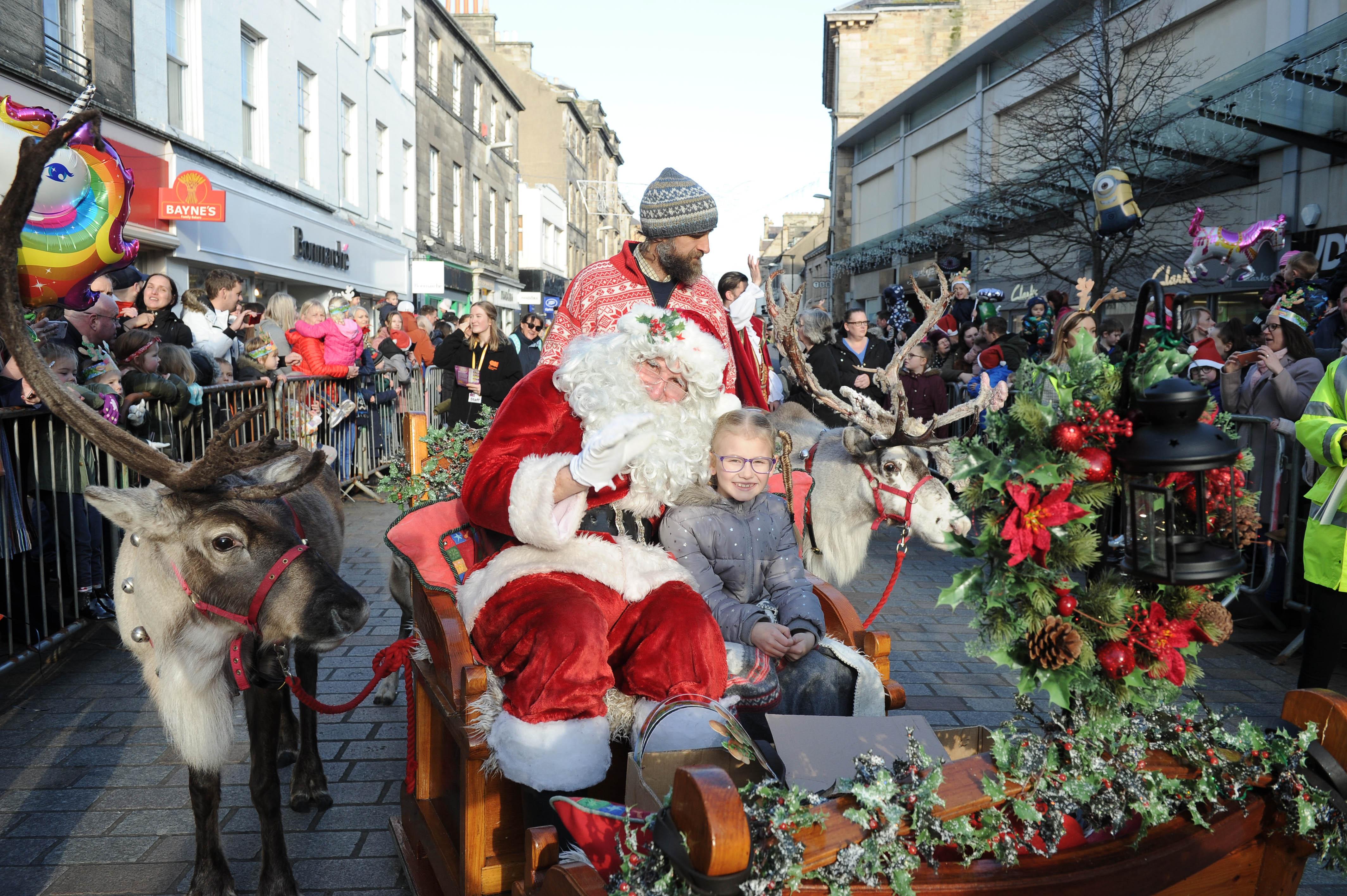 Lyla Steel aged 7 accompanied Santa in his sleigh last year.