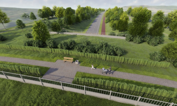 Artist impression of Cross Tay Link Road.