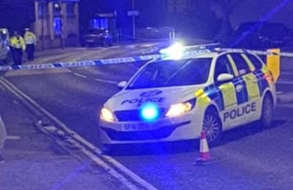 Police closed Station Road in Cardenden until the following day.