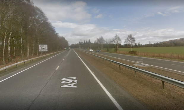 The incident happened on the A90 between Forfar and Brechin.