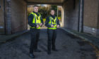Constables Lee Ford-Logie and Shaunni Morris.