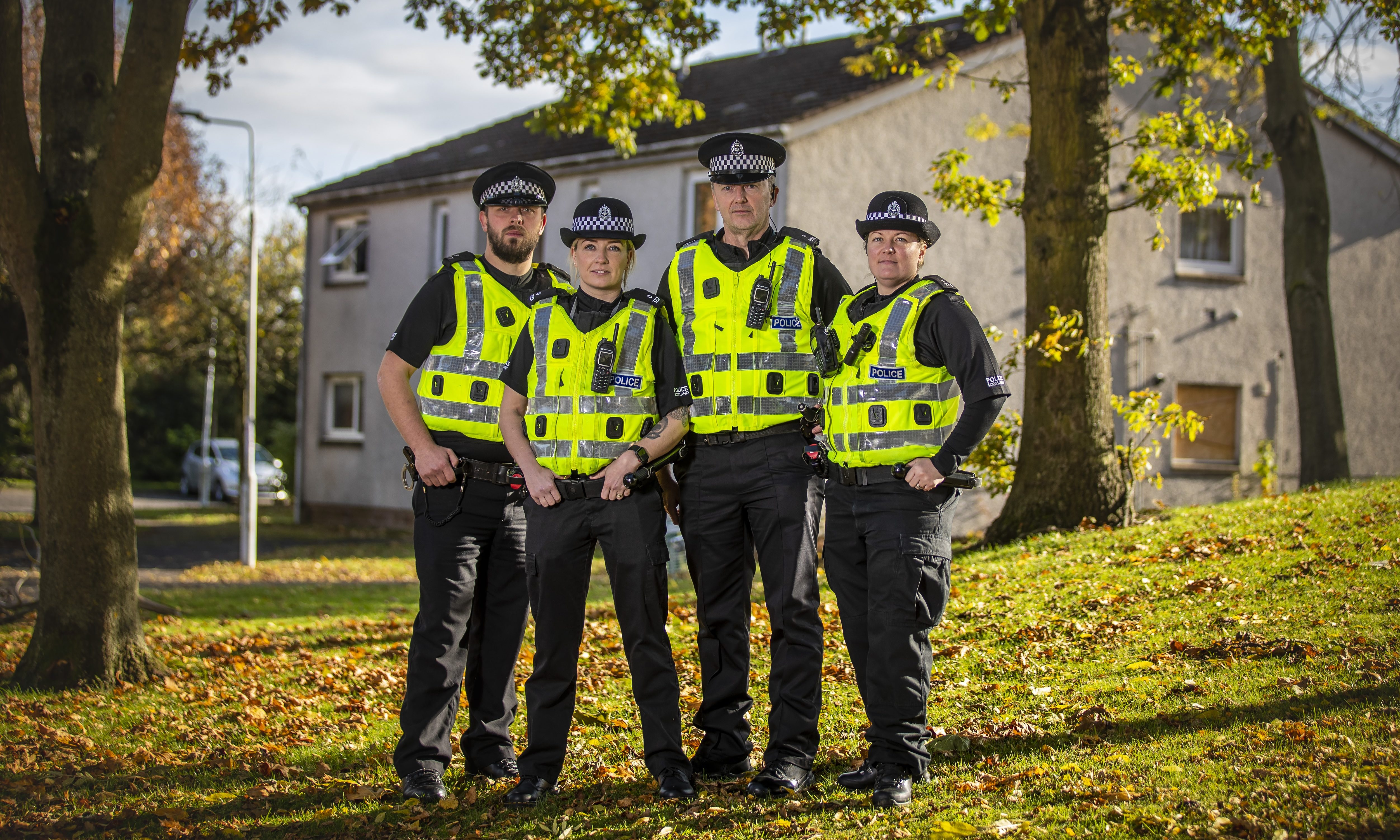 Constables Paul Stather, Sarah Hay, Andrew Gillies and Ashliegh Archer. Picture by Andrew Barr Photography.