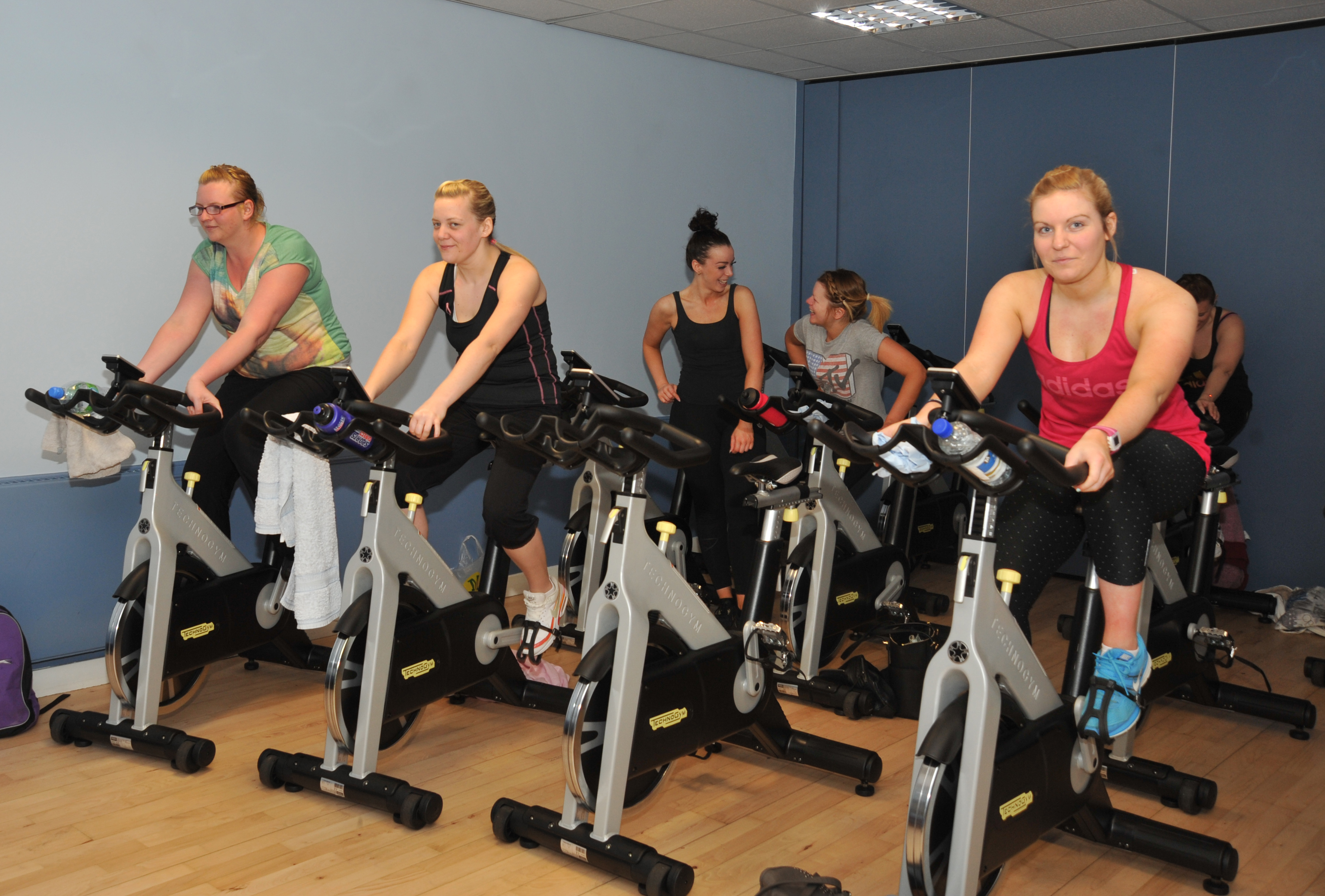 Gym users at Cowdenbeath Leisure Centre.