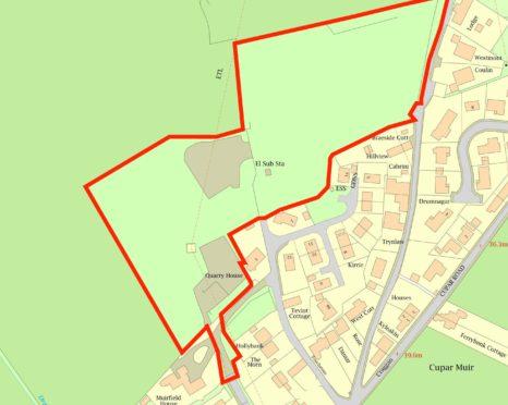 The planned development site in Cupar Muir.